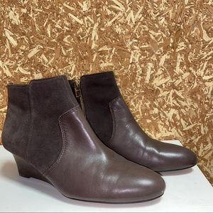 Brown Coach Booties • Suede & Leather • Size 9
